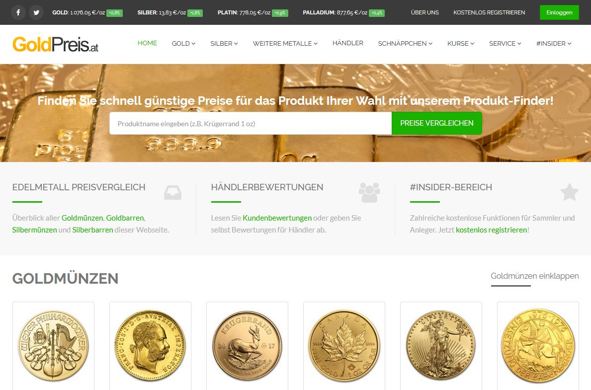 Goldpreis.ch Screenshot