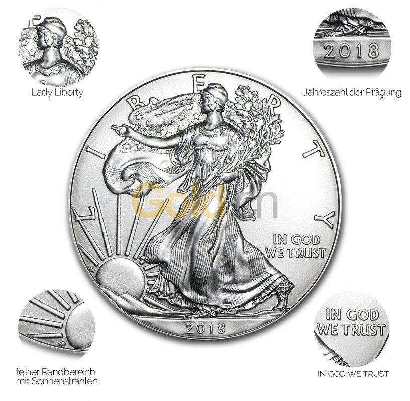 Silbermünze American Silber Eagle - Details des Revers