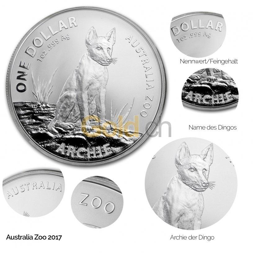 Silbermünze Archie the Alpine Dingo (2017) - Details des Revers