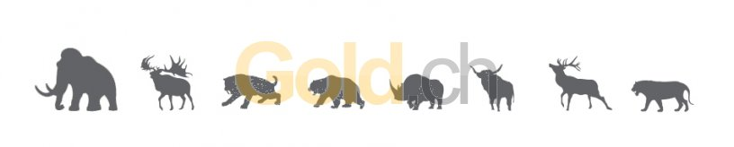 Tiermotive der Serie Giganten der Eiszeit