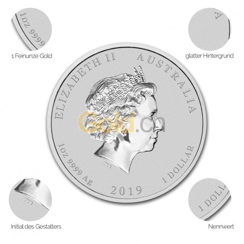 Silbermünze Lunar Serie II - Details des Avers