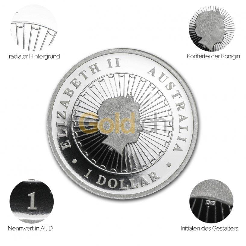 Silbermünze Australian Opal Series - Details des Avers