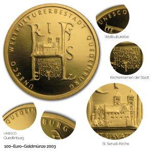 2003 UNESCO Welterbe – Quedlinburg - Revers
