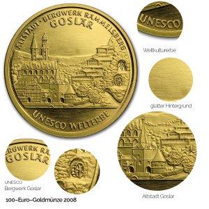 2008 UNESCO Welterbe – Altstadt & Bergwerk Rammelsberg in Goslar - Revers