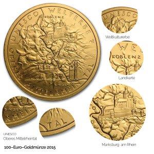 2015 UNESCO Welterbe – Oberes Mittelrheintal - Revers