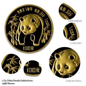 China Panda Gold 1986