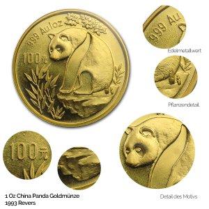China Panda Gold 1993
