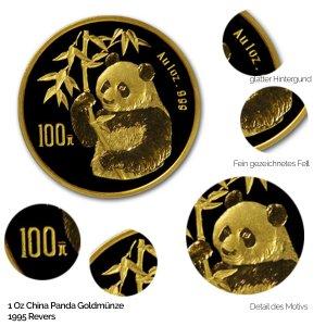 China Panda Gold 1995