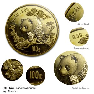 China Panda Gold 1997