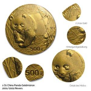 China Panda Gold 2001+2002