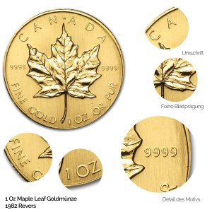 Maple Leaf Gold Revers 1982
