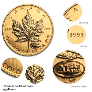 Maple Leaf Gold Revers 1999