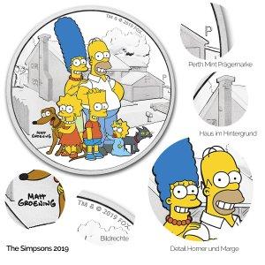 The Simpsons Silbermünze: 2019 Family