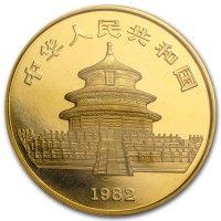 China Panda Gold Avers 1982