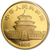 China Panda Gold Avers 1985