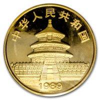 China Panda Gold Avers 1989