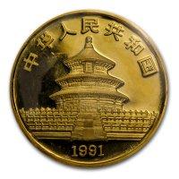 China Panda Gold Avers 1991