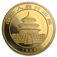 China Panda Gold Avers 1998