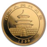 China Panda Gold Avers 1999