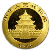 China Panda Gold Avers 2003
