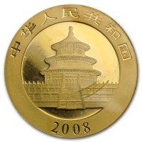 China Panda Gold Avers 2008