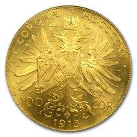 Nachprägung 100 Kronen Goldmünze Avers