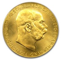 Nachprägung 100 Kronen Goldmünze Revers