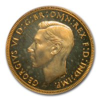 Gold Sovereign von 1936-1952 - Georg VI - Avers