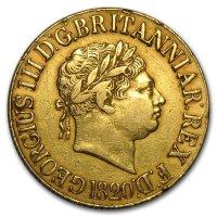 Gold Sovereign von 1817-1820 - Georg III - Avers