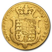 Gold Sovereign von 1826 - Revers