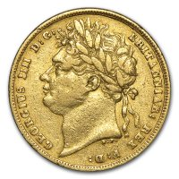 Gold Sovereign von 1822 - Avers