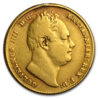 Gold Sovereign von 1832 - William IV - Avers