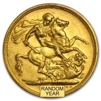 Gold Sovereign von 1908-1910 - Edward VII - Revers