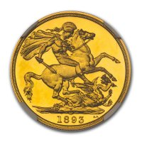 Double Sovereign von 1893 - Revers